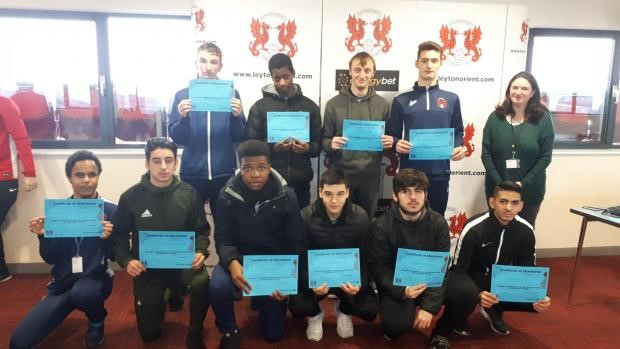 Leyton Orient Trust awards 'inspiring' students on the College Study Programme at Waltham Forest College
